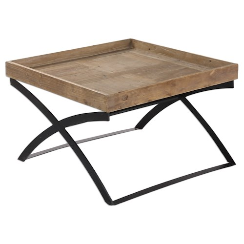 Uttermost Accent Furniture Ferox Elm Tray Coffee Table