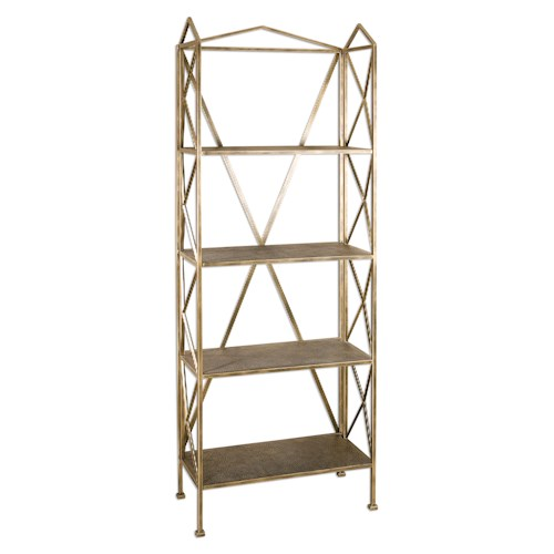 Uttermost Accent Furniture Yulia Antique Gold Etagere