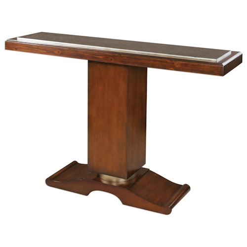 Uttermost Accent Furniture Taniel Pedestal Console Table