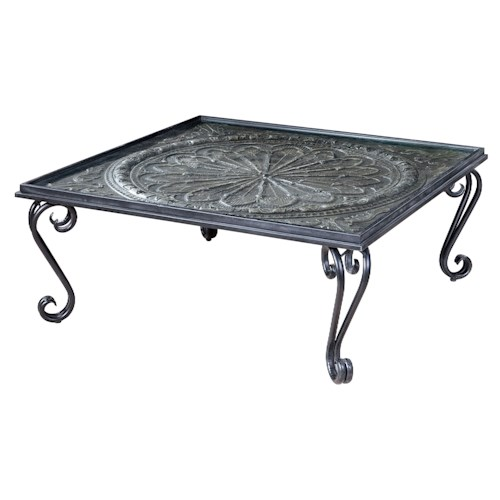 Uttermost Accent Furniture Ottavio Charcoal Brown Coffee Table