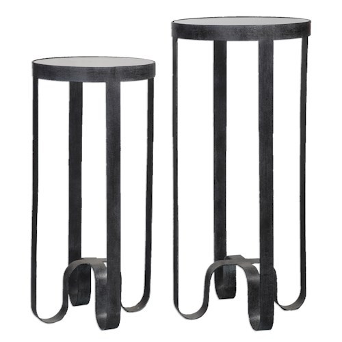 Uttermost Accent Furniture Arusi Strapped Iron Accent Tables, S/2