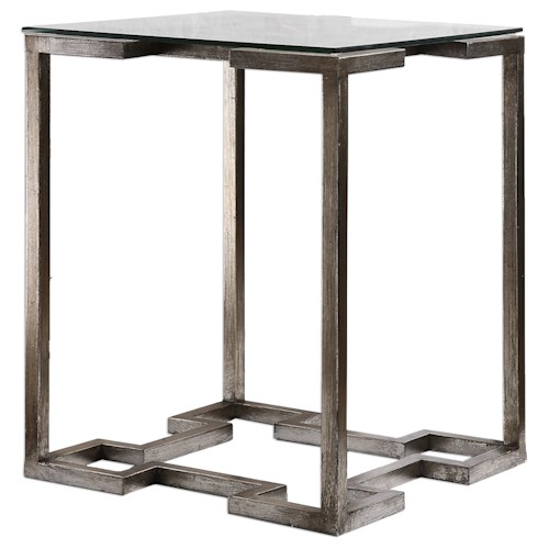 Uttermost Accent Furniture Kelli Glass Top Accent Table