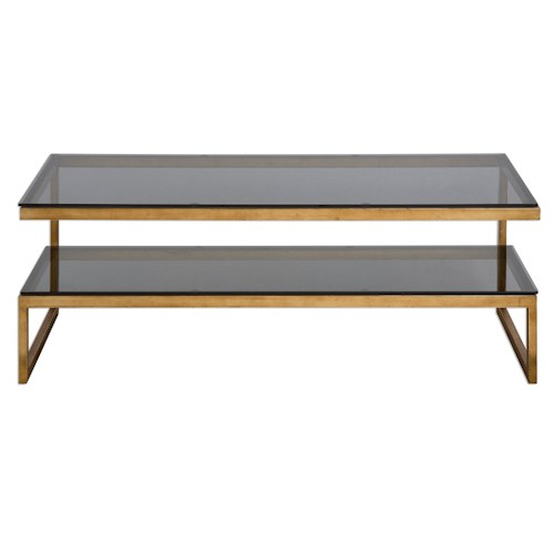 Uttermost Accent Furniture Adeen Glass Coffee Table