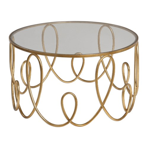 Uttermost Accent Furniture Brielle Gold Coffee Table