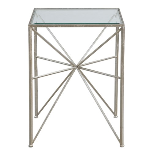 Uttermost Accent Furniture Silvana Silver Side Table