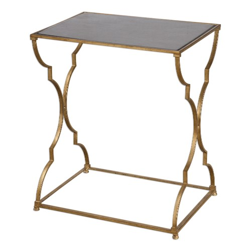 Uttermost Accent Furniture Caitland Antique Gold Accent Table