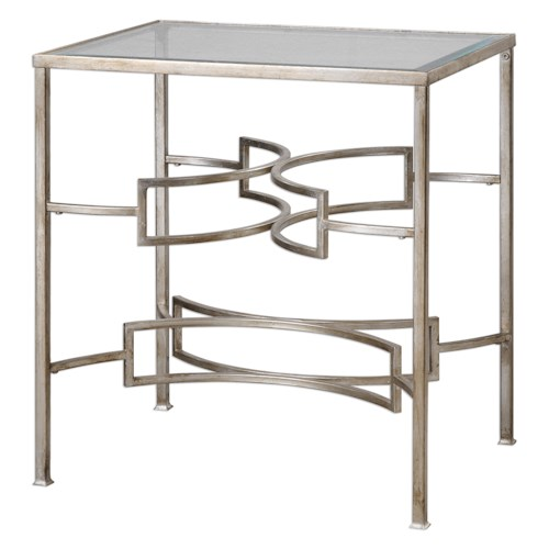 Uttermost Accent Furniture Eilinora Silver End Table
