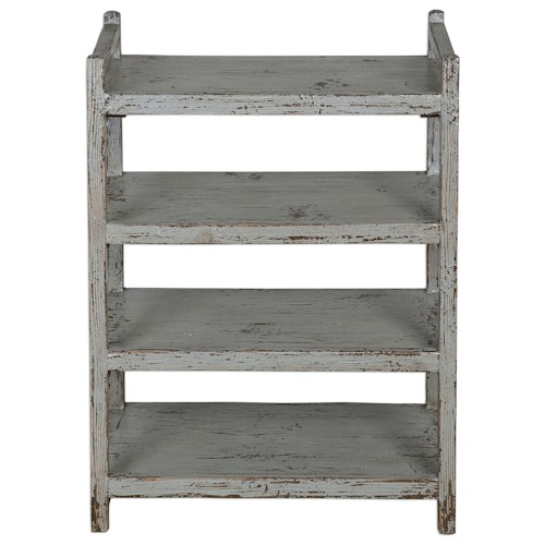 Uttermost Accent Furniture Reilley Gray Shoe Rack