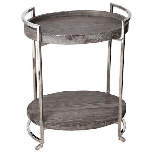 Uttermost Accent Furniture  Colin Wooden Serving Cart