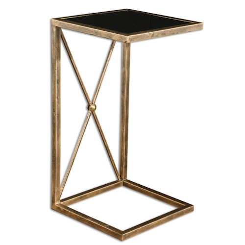 Uttermost Accent Furniture Zafina Gold Side Table