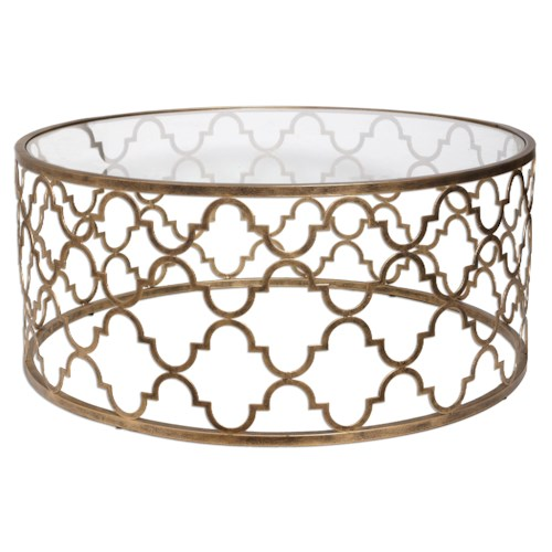 Uttermost Accent Furniture Quatrefoil Coffee Table