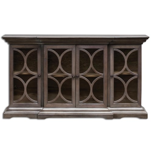 Uttermost Accent Furniture Belino Wooden 4 Door Chest