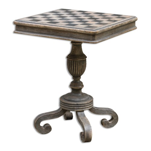 Uttermost Accent Furniture Gwennan Wooden Game Table