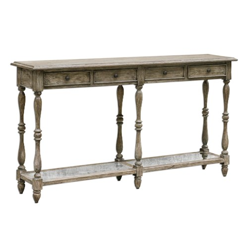 Uttermost Accent Furniture Fortuo Weathered Console Table