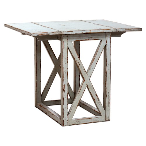 Uttermost Accent Furniture Khari Drop Leaf Table
