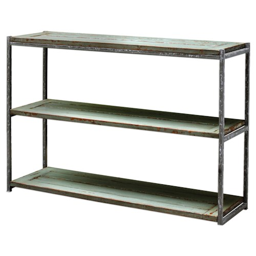 Uttermost Accent Furniture Lenka Seaglass Green Console