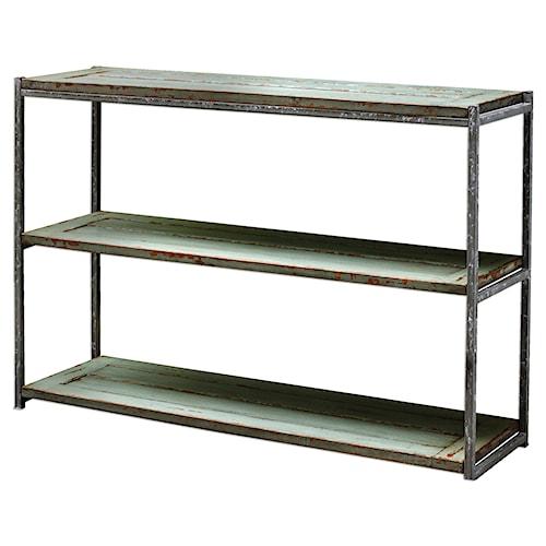 Uttermost Accent Furniture Lenka Seaglass Green Console