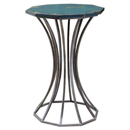 Uttermost Accent Furniture Vika Navy Blue Accent Table