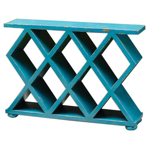 Uttermost Accent Furniture Tomek Blue Console Table
