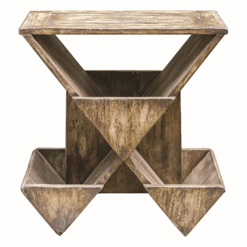 Uttermost Accent Furniture Enzo Geometric Accent Table