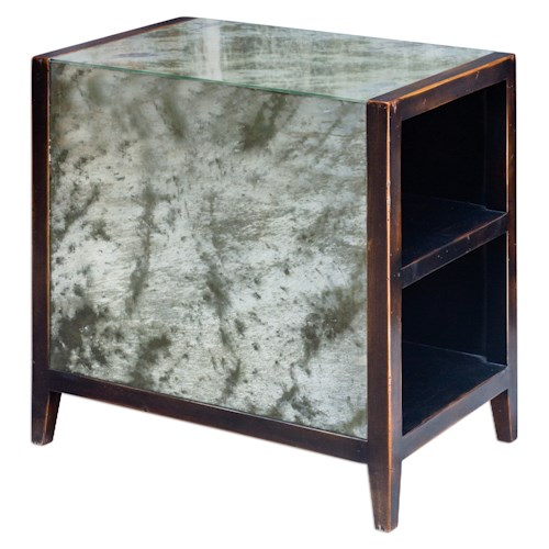 Uttermost Accent Furniture Tierney Antique Mirror End Table