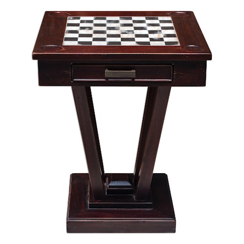 Uttermost Accent Furniture Fineas Wood Game Table