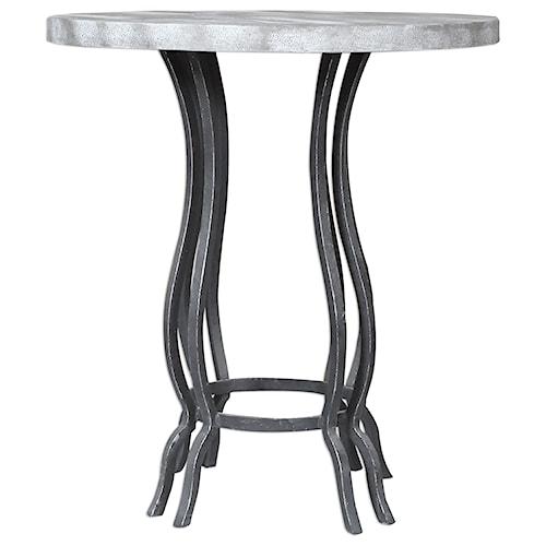 Uttermost Accent Furniture Sashi Concrete Accent Table