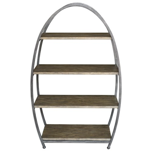 Uttermost Accent Furniture  Matisa Textured Steel Etagere