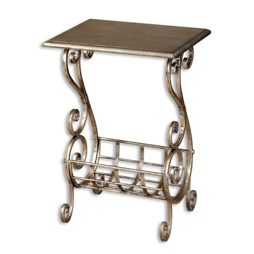 Uttermost Accent Furniture Lilah Magazine Table