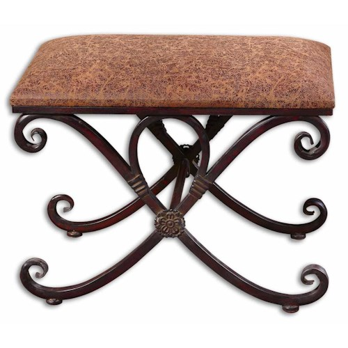 Uttermost Accent Furniture Manoj Small Bench