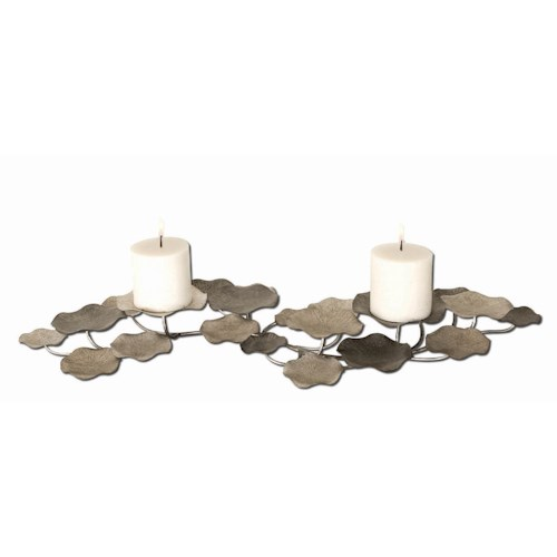 Uttermost Accessories Lying Lotus Candleholder