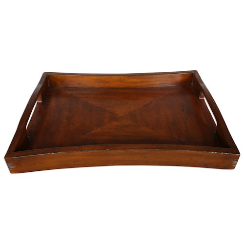 Uttermost Accessories Enrico Wooden Tray