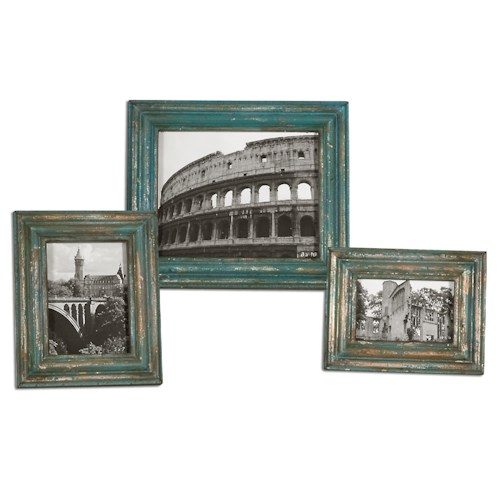 Uttermost Accessories Marlais Bronze Photo Frames, Set of  3