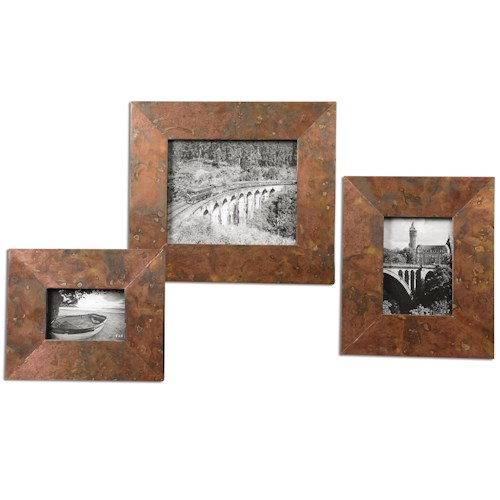 Uttermost Accessories Ambrosia Copper Photo Frames, Set of  3
