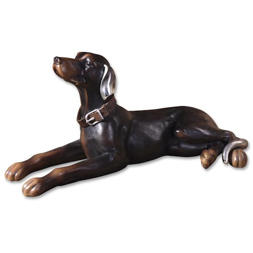Uttermost Accessories Resting Dog Statue