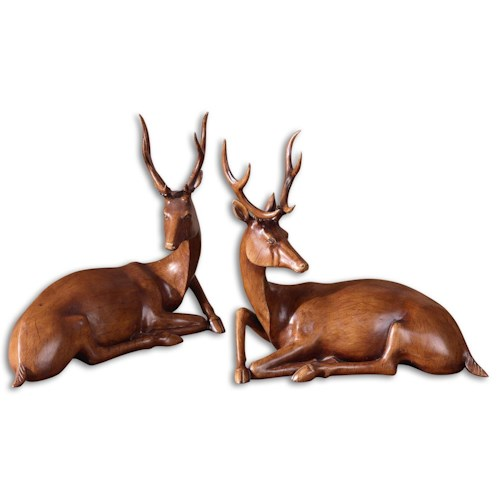 Uttermost Accessories Buck Statues Set of 2