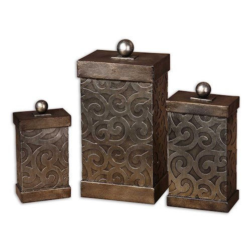 Uttermost Accessories Nera Boxes Set of 3