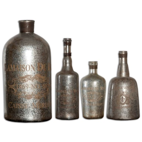 Uttermost Accessories Lamaison Mercury Glass Bottle Large