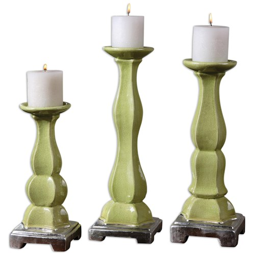 Uttermost Accessories Irwyn Candleholders Set of 3