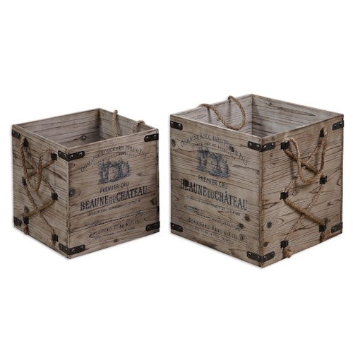 Uttermost Accessories Bouchard Crates Set of 2