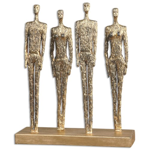 Uttermost Accessories Ten-hut Gold Sculpture