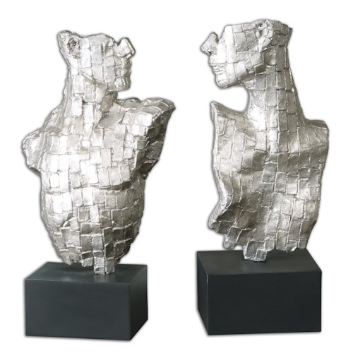 Uttermost Accessories Eros Silver Sculptures Set of 2