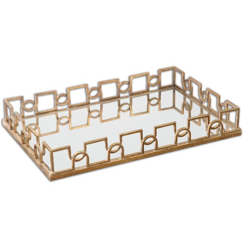 Uttermost Accessories Nicoline Mirrored Tray