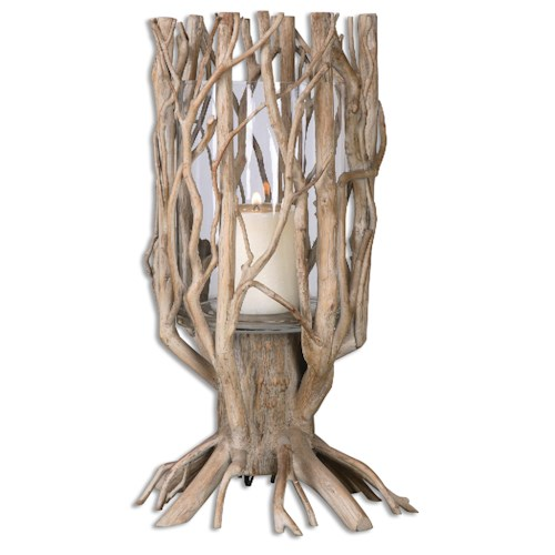 Uttermost Accessories Ugo Natural Wood Candleholder