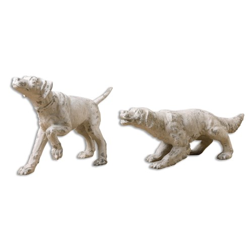 Uttermost Accessories Hudson and Penny Dog Sculptures, S/2