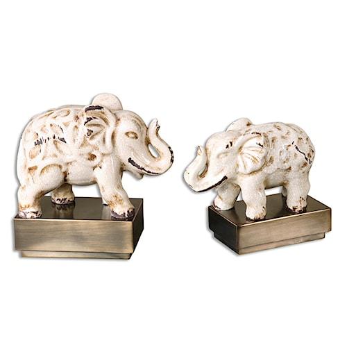 Uttermost Accessories Maven Elephant Sculptures, S/2