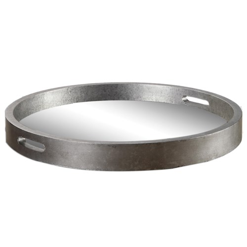 Uttermost Accessories Bechet Round Silver Tray