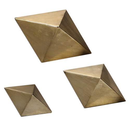 Uttermost Accessories Rhombus Champagne Accents, S/3