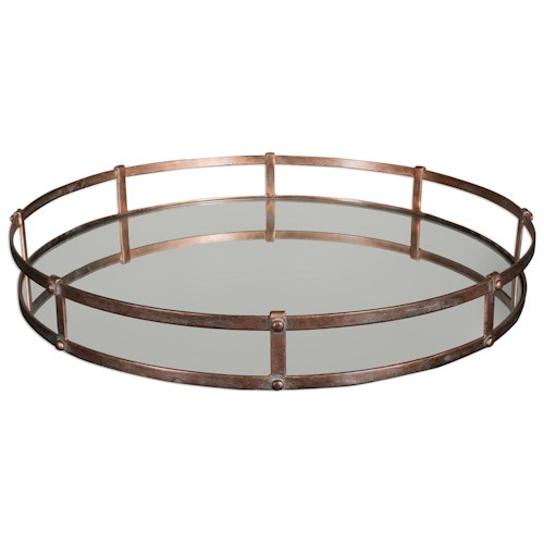 Uttermost Accessories Nunzio Mirrored Tray