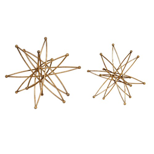 Uttermost Accessories Constanza Gold Atom Accessories, S/2